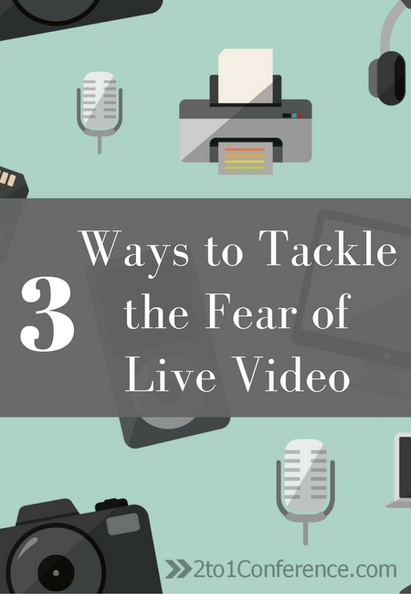 Live video is growing in popularity in social media marketing. Live video can be scary though, here are 3 ways to tackle the fear of live video broadcast.