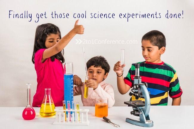 Finally get those cool science experiments done to celebrate the end of the homeschool year