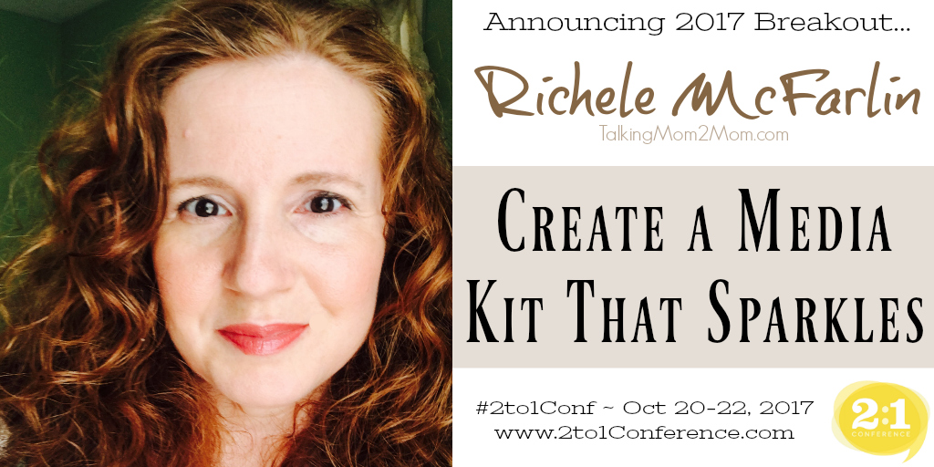 Richele McFarlin will speak at the 2017 2:1 Conference.