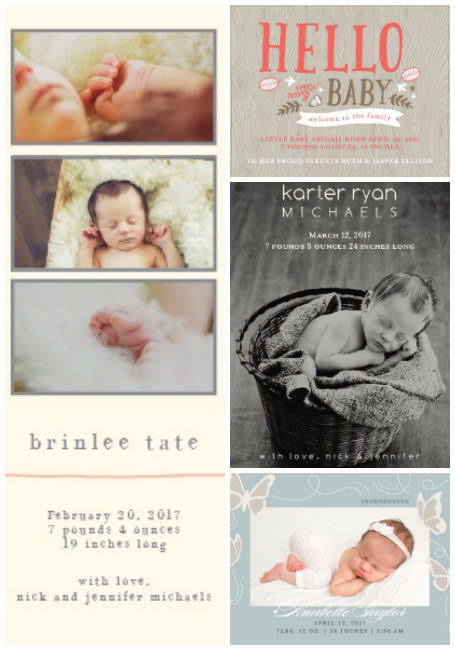 Basic Invite birth announcements make your special announcenent easy and affordable.