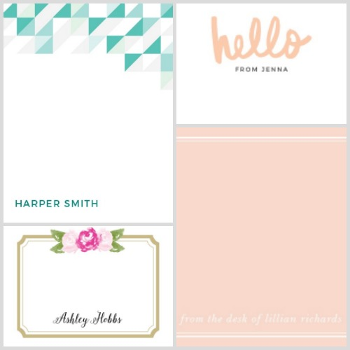 Beautiful stationery from Basic Invite.