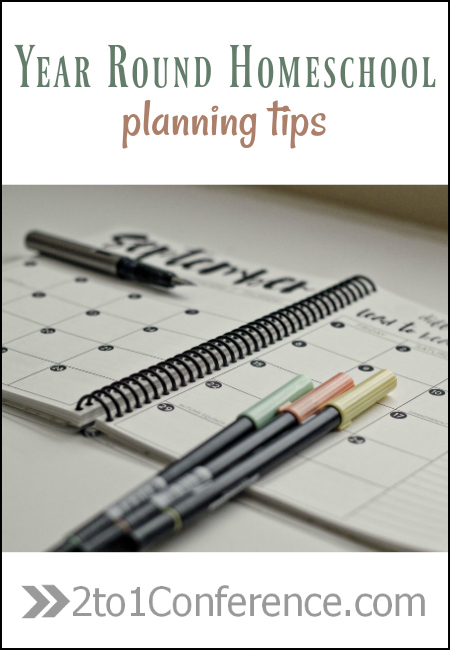 Great ideas to keep in mind while planning your year round homeschool schedule.