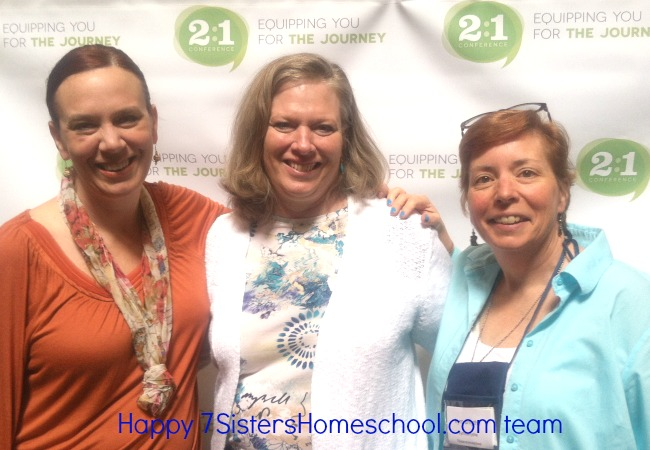 You already have friends at 2to1 Conference. This is the happy 7SistersHomeschool.com team. We love the conference and have made SO many friends!