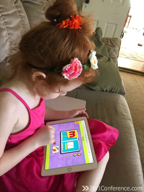 We use online reading games to occupy littles during homeschool.