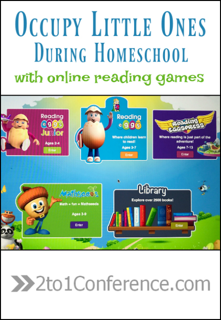 Reading Eggs is a great tool to occupy little ones during homeschool.