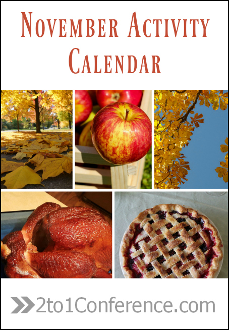 Enjoy fun family activities throughout the month with our free November Activity Calendar.